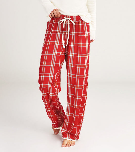 HATLEY- WOMEN'S COZY LOUNGE BOTTOMS- FESTIVE PLAID