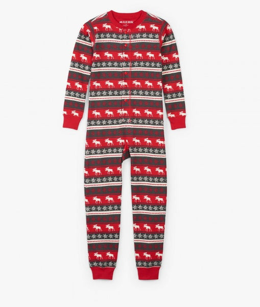 HATLEY- FAIR ISLE MOOST KIDS UNION SUIT