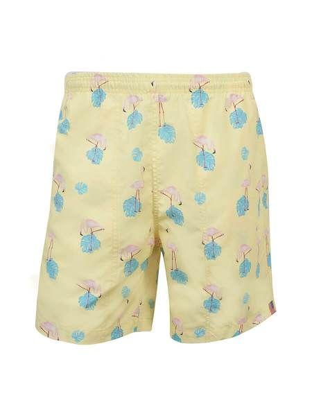WEEKENDER- MEN'S PRINT SWIM TRUNK- FLAMINGO DAY (more colours)