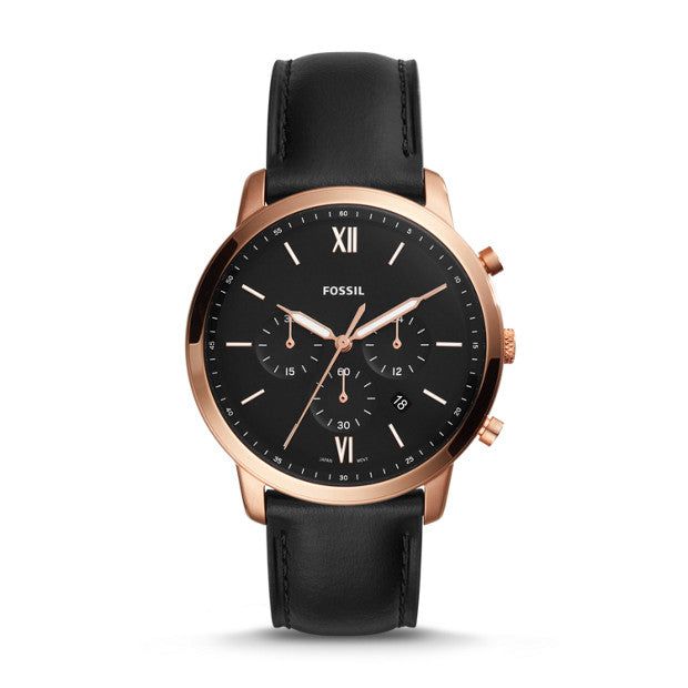 FOSSIL- NEUTRA CHRONOGRAPH BLACK LEATHER WATCH