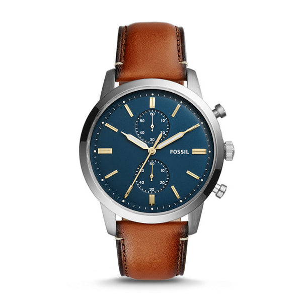 FOSSIL- TOWNSMAN 44MM CHRONOGRAPH LUGGAGE LEATHER WATCH