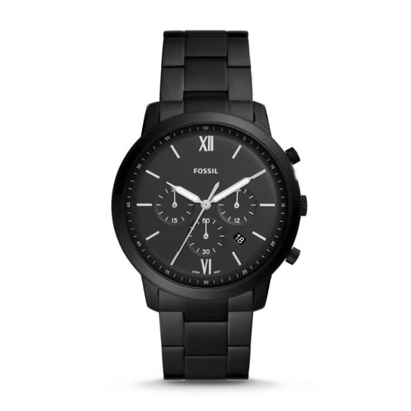 FOSSIL- NEUTRA CHRONOGRAPH BLACK STAINLESS STEEL WATCH