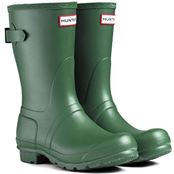 HUNTER- WOMENS ORIGINAL SHORT BACK ADJUSTABLE RAIN BOOTS