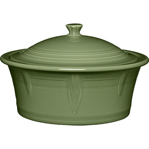 FIESTA- LARGE COVERED CASSEROLE SAGE