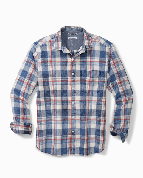 TOMMY BAHAMA- HAZY DAYS PLAID SHIRT