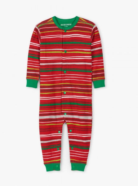 HATLEY- HOLIDAY STRIPES BABY UNION SUIT