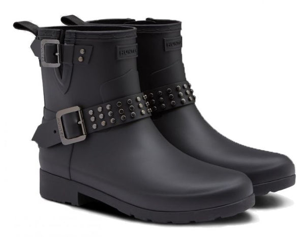 HUNTER- WOMEN'S REFINED STUDDED BIKER BOOTS