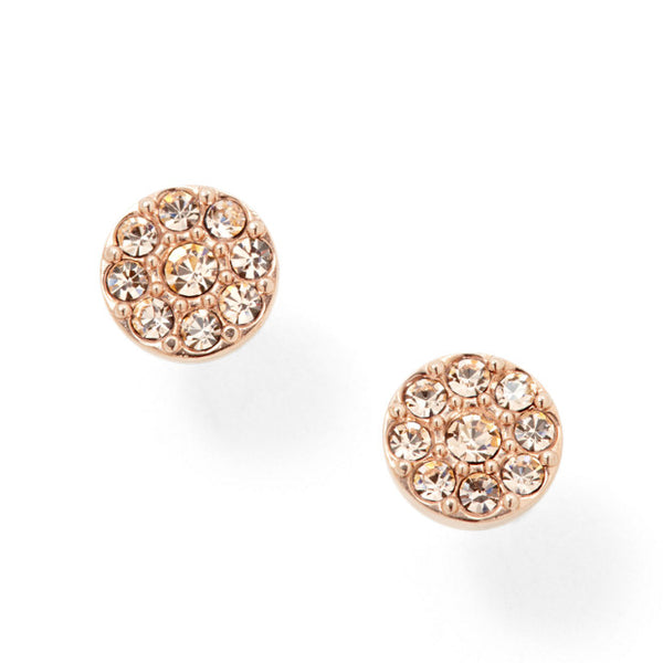 FOSSIL- DISC ROSE TONE STUDS