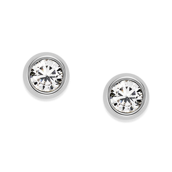 FOSSIL- CRYSTAL STUDS
