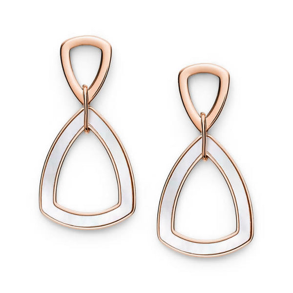 FOSSIL- GEOMETRIC ROSE GOLD-TONE STAINLESS STEEL EARRINGS