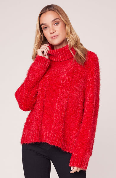 JACK BY BB DAKOTA- EYELASH KISSES CABLE KNIT SWEATER