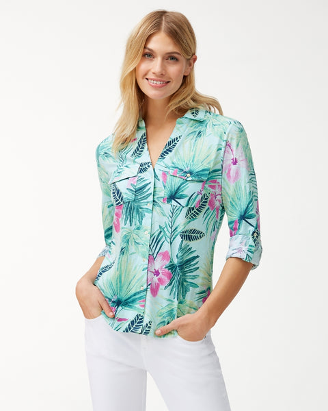 TOMMY BAHAMA- KAYO BLOSSOMS KNIT SHIRT