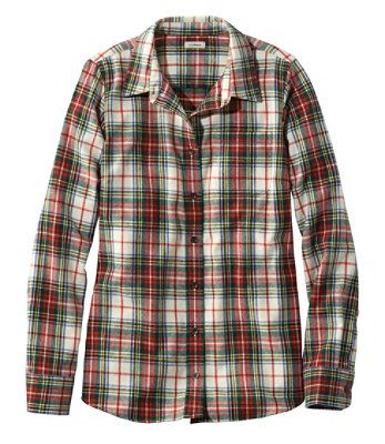 L.L.BEAN- SCOTCH PLAID FLANNEL SHIRT, SLIGHTLY FITTED (more colours)