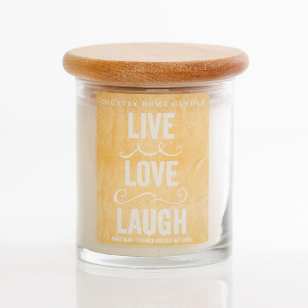 LIVE LOVE LAUGH- Country Home Candle