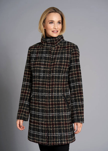 JUNGE- CLASSIC CHECKED WOOL JACKET