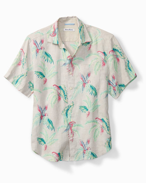 TOMMY BAHAMA- MARCH OF PARROTS CAMP SHIRT