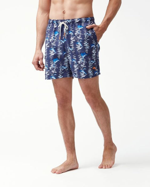TOMMY BAHAMA- NAPLES MARINA MARLIN 6-INCH SWIM TRUNKS