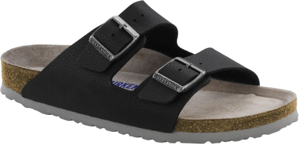 BIRKENSTOCK- MEN'S ARIZONA SOFT | BIRKO-FLOR | DESERT SOIL BLACK