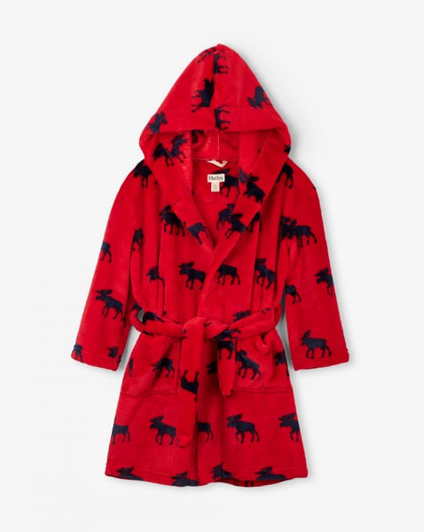 HATLEY- MOOSE GATHERING KID'S FLEECE ROBE