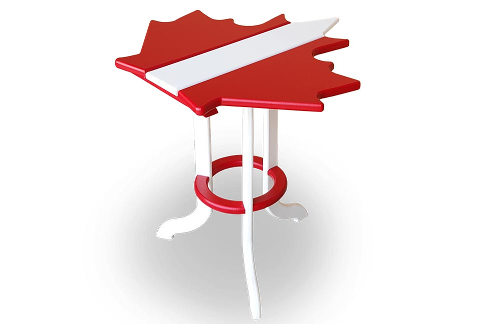BEAVER SPRINGS- MAPLE LEAF SIDE TABLE