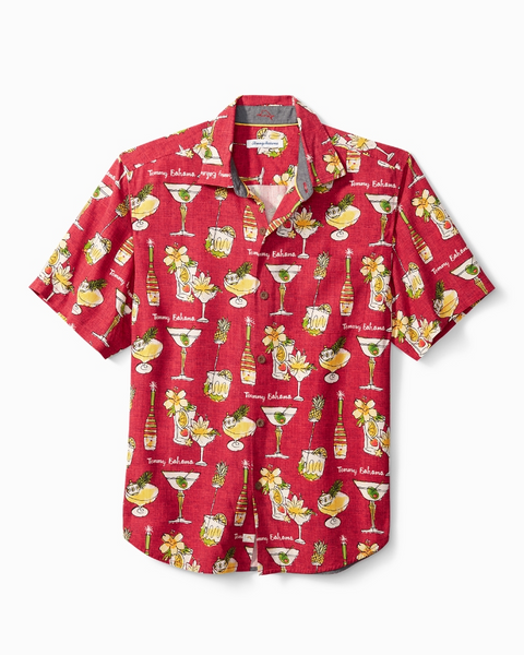 TOMMY BAHAMA- MERRY MARTINI CAMP SHIRT
