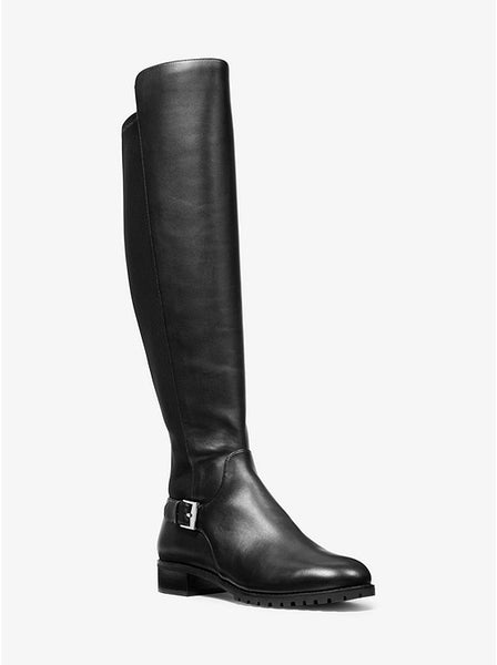 MICHAEL KORS- BRANSON STRETCH LEATHER BOOT
