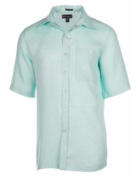 WEEKENDER- MEN'S LINEN SHIRT- PAVILION SHORT SLEEVE (more colours)
