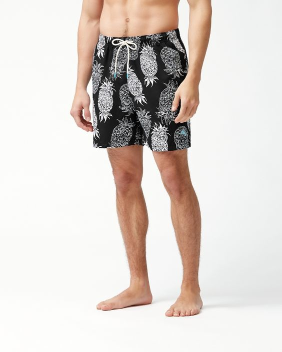 TOMMY BAHAMA- NAPLES PINA PINATA 6-INCH SWIM TRUNKS