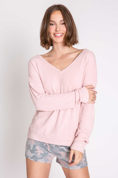 PJ SALVAGE- WEEKEND LOVE LONG SLEEVE TOP