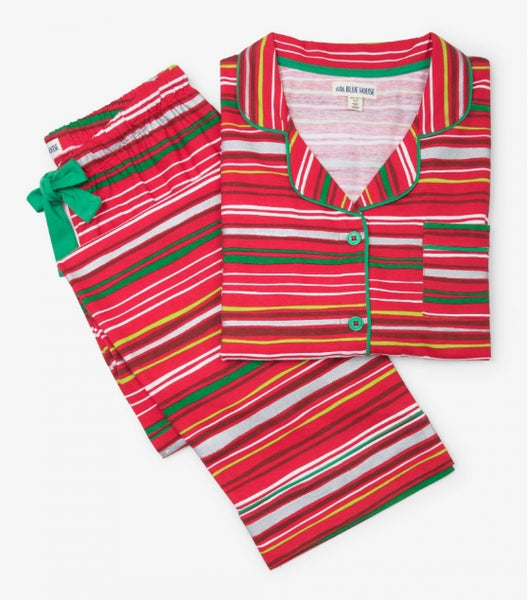 HATLEY- HOLIDAY STRIPES WOMEN'S PJ SET