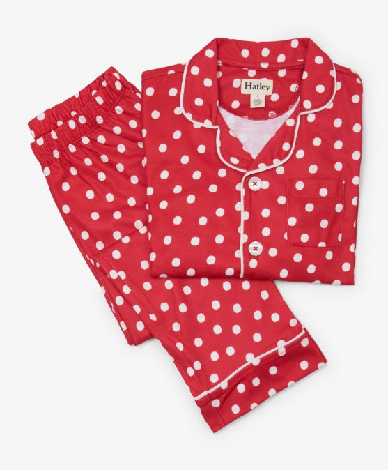 HATLEY- SNOWBALLS BUTTON DOWN PJS