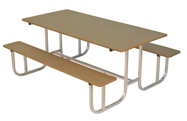 BEAVER SPRINGS- PICNIC TABLE WITH ALUMINUM FRAME