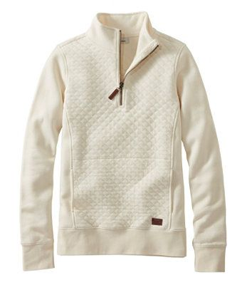 L.L.BEAN- QUILTED QUARTER-ZIP PULLOVER