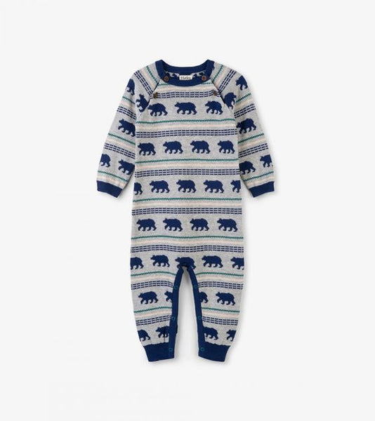 HATLEY- LITTLE BLUE HOUSE- POLAR BEAR SILHOUETTES BABY SWEATER ROMPER