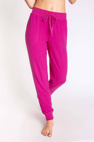 PJ SALVAGE- PEACHY IN COLOR BANDED PANT