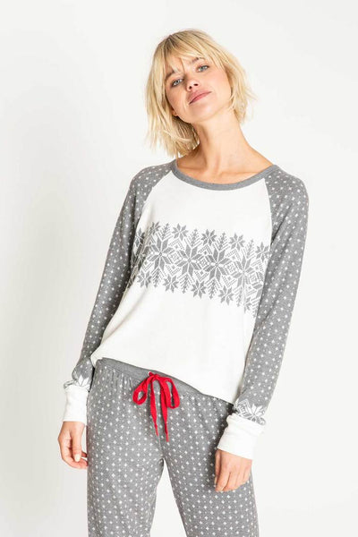 PJ SALVAGE- SNOWED IN LONG SLEEVE TOP