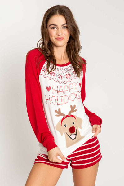 PJ SALVAGE- JOYFUL HEART LONG SLEEVE TOP