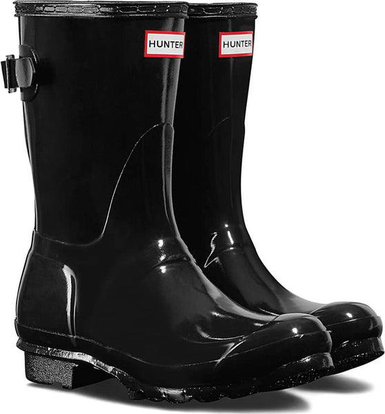 HUNTER- WOMEN'S ORIGINAL SHORT BACK ADJUSTABLE GLOSS RAINBOOTS