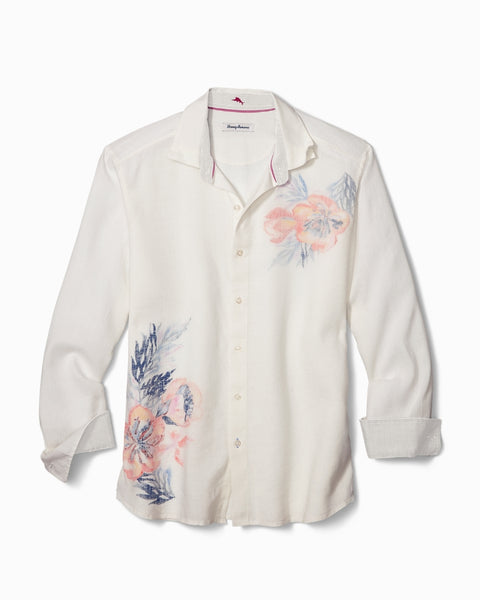 TOMMY BAHAMA- SOUTH PACIFIC ESCAPE STRETCH-LINEN SHIRT