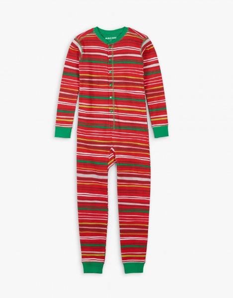 HATLEY- HOLIDAY STRIPES KIDS UNION SUIT