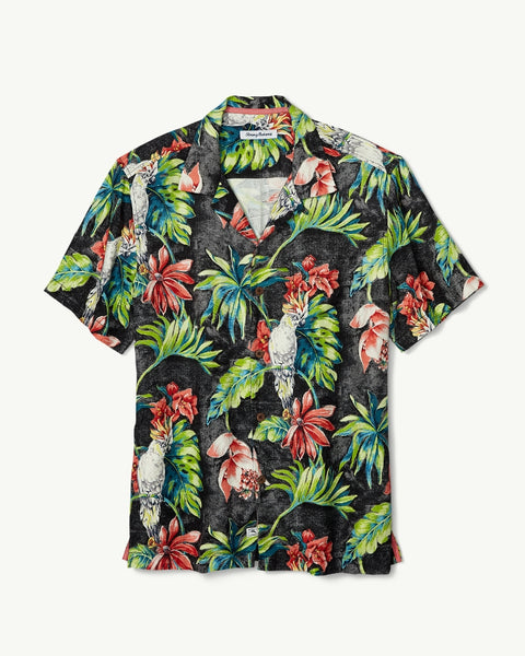 TOMMY BAHAMA- TAHITIAN TWEETS CAMP SHIRT