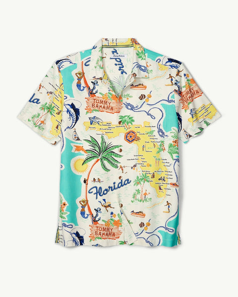 TOMMY BAHAMA- MEET ME IN MIAMI CAMP SHIRT