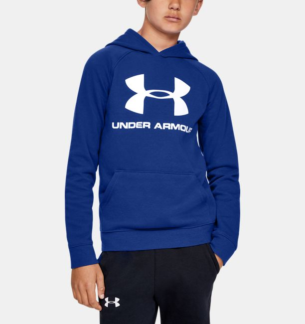 UNDER ARMOUR - BOYS RIVAL LOGO HOODIE