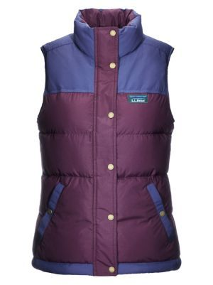 L.L. BEAN- WOMEN'S MOUNTAIN CLASSIC DOWN VEST, COLOURBLOCK
