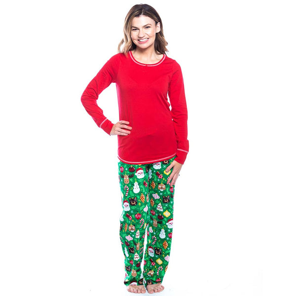 HATLEY- FESTIVE RED STRETCH JERSEY PJ TOP