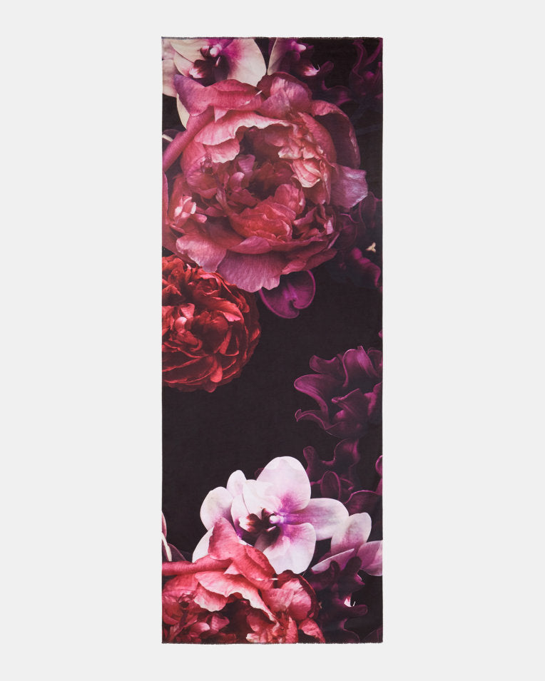 TED BAKER- KAII SPLENDOUR LONG WOVEN SILK SCARF