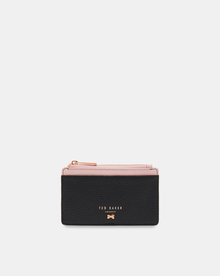 TED BAKER- LORI TEXTURED LEATHER CARD HOLDER