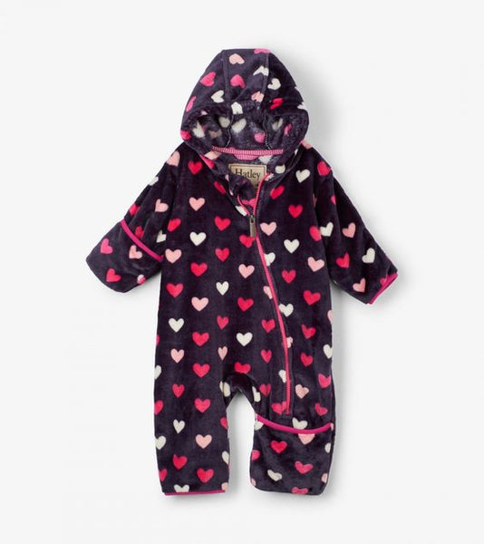 HATLEY- LOVEY HEARTS FUZZY FLEECE BABY BUNDLER