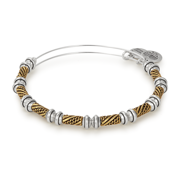 ALEX AND ANI- Quill Two Tone Beaded Bangle