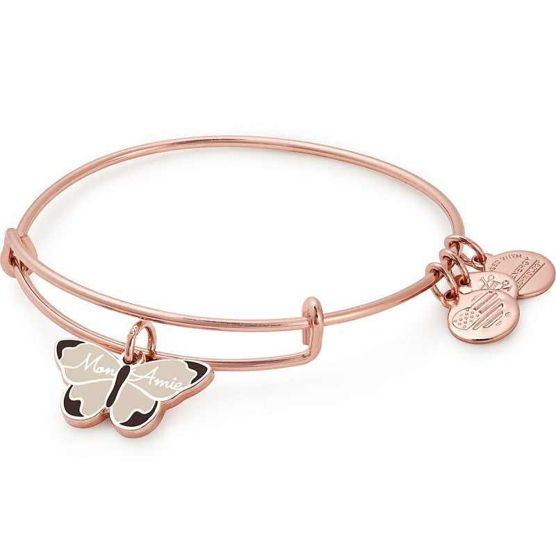 ALEX AND ANI- Mon Amie Butterfly Color Infusion Charm Bangle